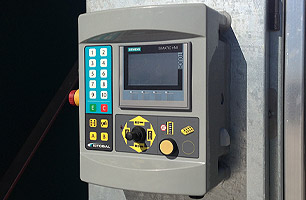 Progress wash machine installed at TOLL IPEC showing master control panel